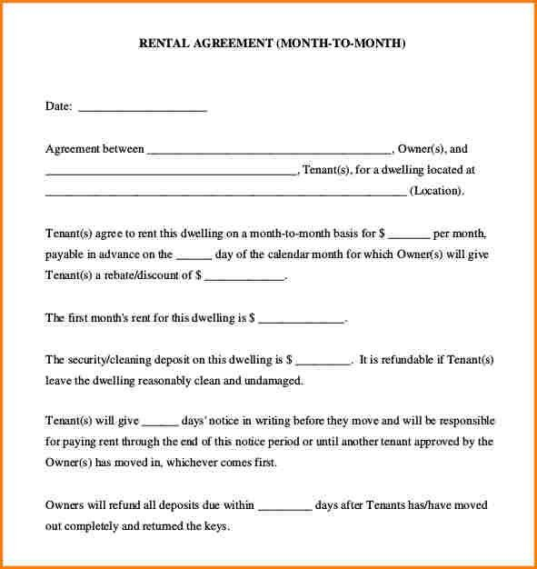 Free Simple Lease Agreement Form [Template.billybullock.us ]