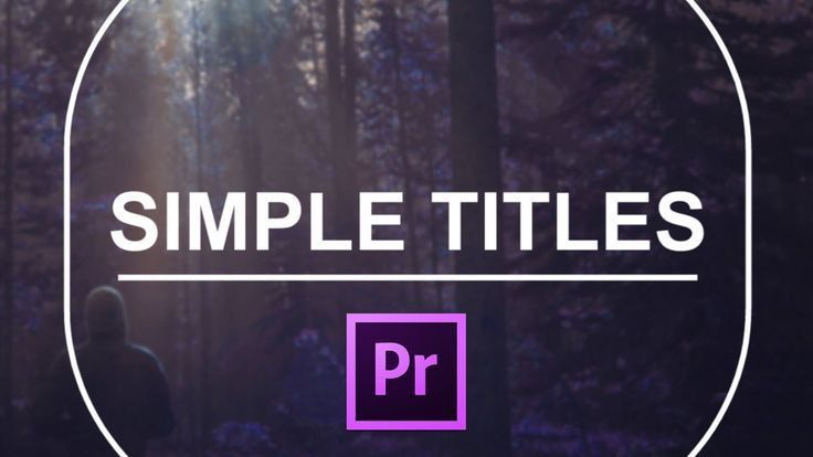 Simple titles is a bundle of 10 title templates for Premiere Pro ...