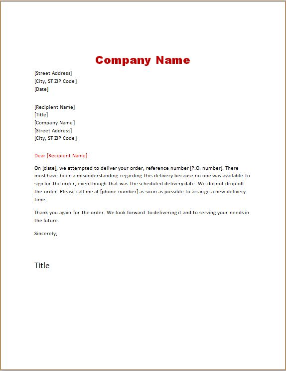 Delivery Note Template | Word Excel Templates