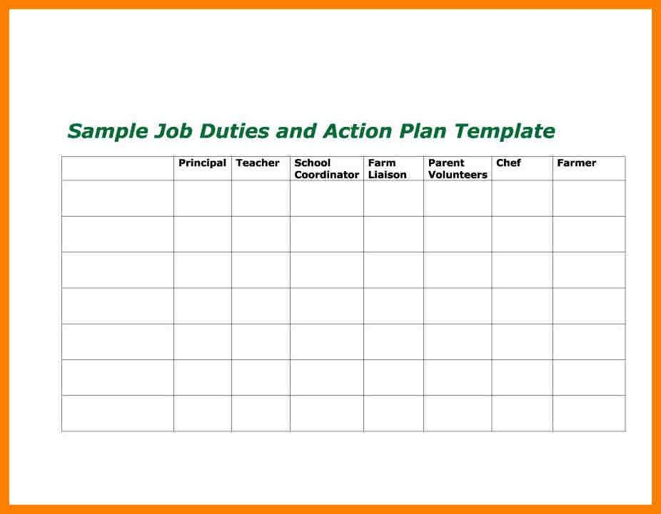 6+ action plan examples   coaching-resume