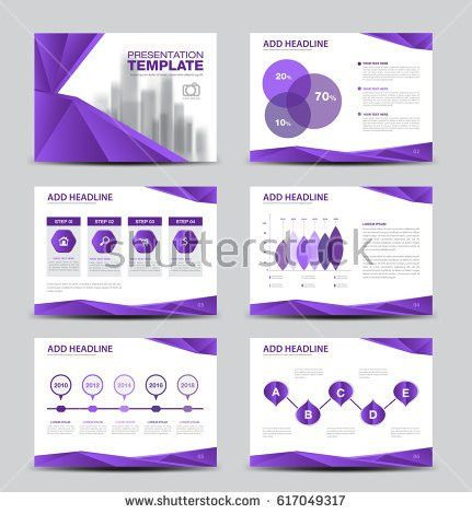 Annual Report Brochure Flyer Template Purple Stock Vector ...