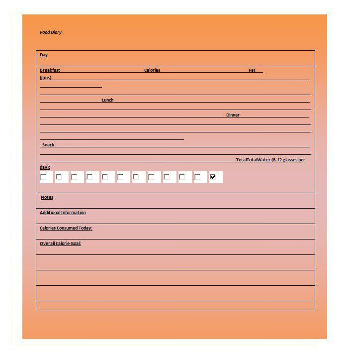 Doc.#600600: Diary Paper Template – 10 Free Journal Templates for ...