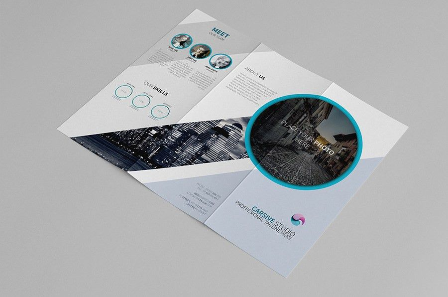 Creative Trifold Brochure Template - Free Design Resources