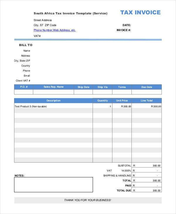 4 Tax Invoice – Free Sample, Example, Format Download