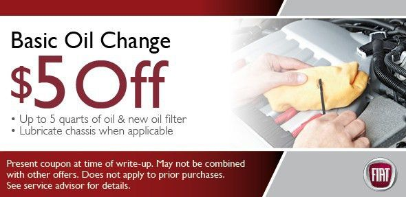 Fiat Oil Change Coupons & Specials Scottsdale, Phoenix Area