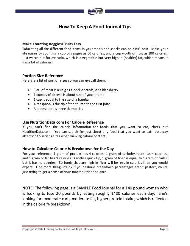 Free printable-food-diary-template