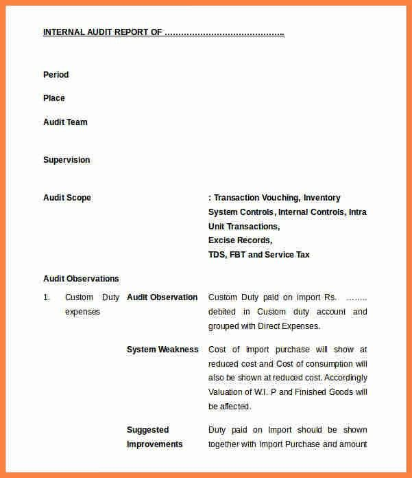 6+ internal audit report sample | Invoice Example 2017