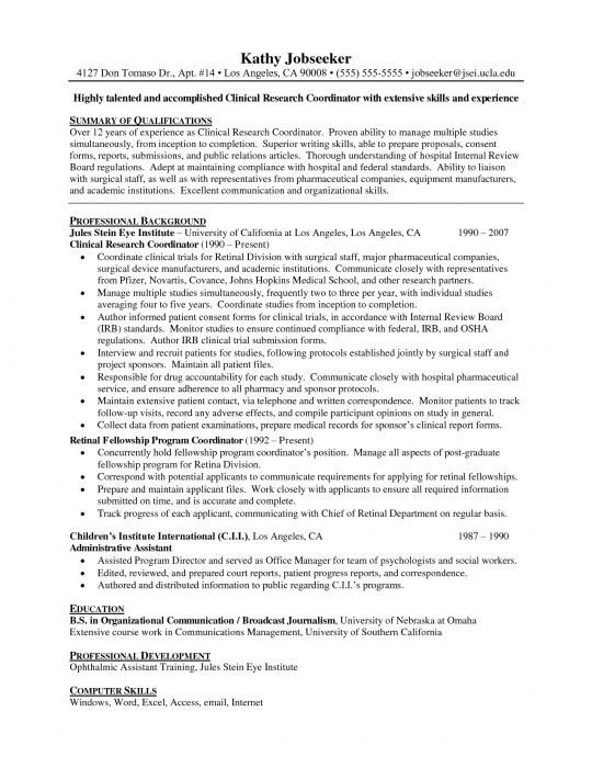 Elegant Resume For Research Assistant | Resume Format Web