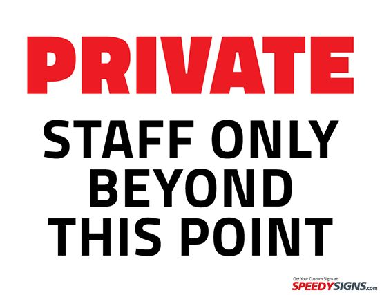 Free Private Staff Only Beyond This Point Printable Sign Template ...