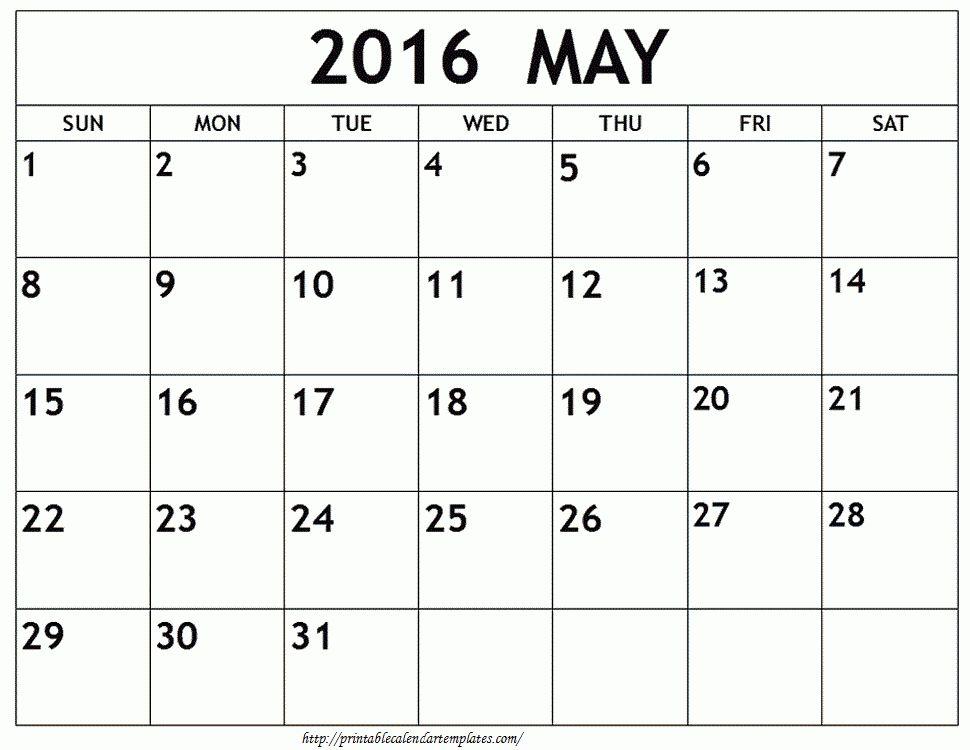 May 2017 Printable Calendar | Blank Templates | Printable Calendar ...