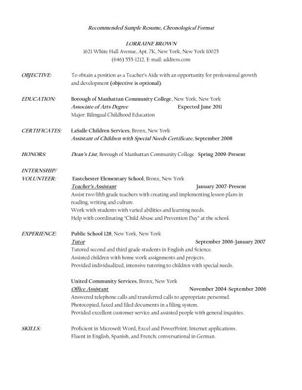 Teacher Aide Resume Examples - Best Resume Collection