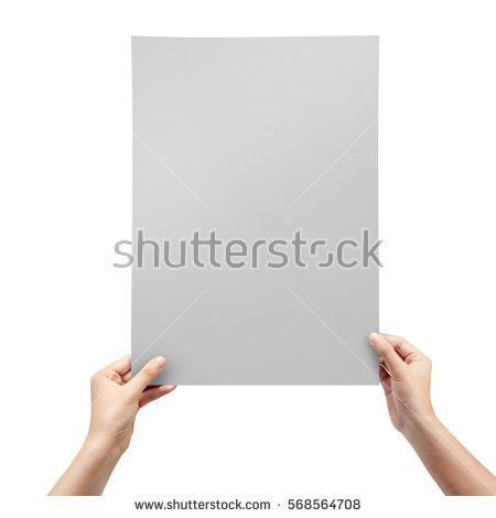 Woman Hands Holding Blank Paper Sheet Stock Photo 568564708 ...