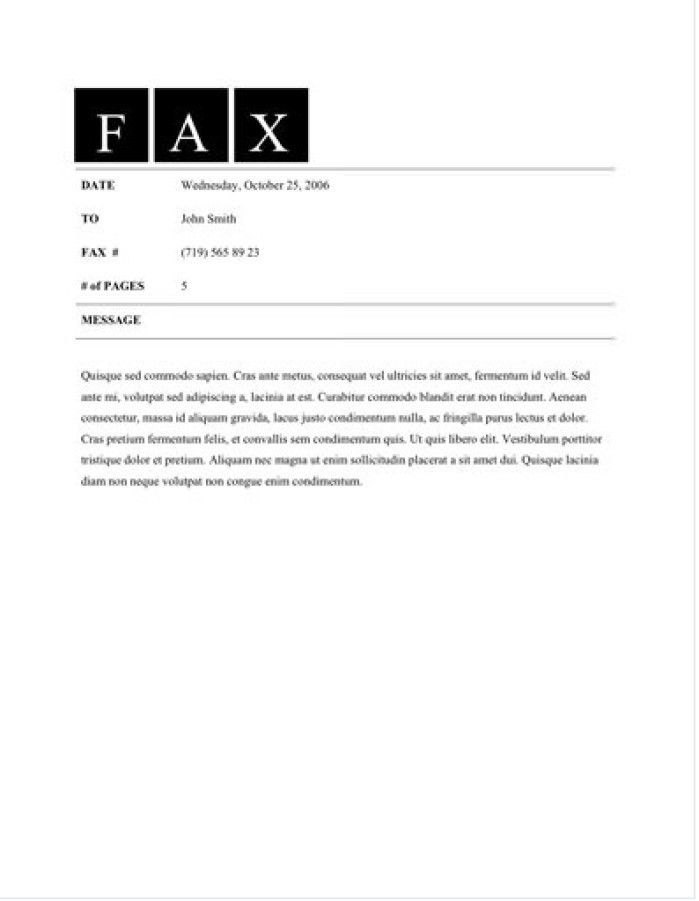 Free Fax Form] Free Fax Cover Sheet Template Printable Fax Cover ...