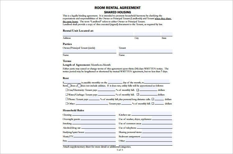 Rental Agreement Template - Free PDF, Word Documents | Creative ...