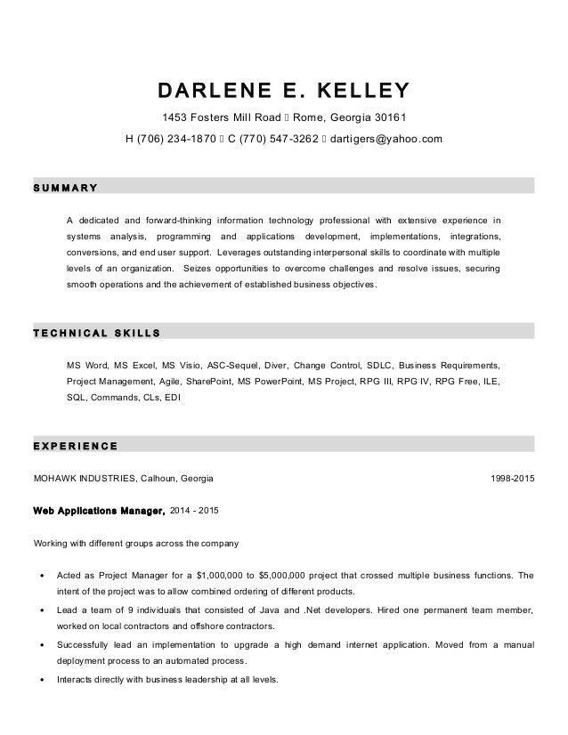 Darlene Kelley Revised Resume
