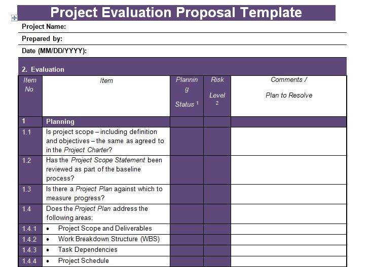 Get Project Evaluation Proposal Template - Project Management ...