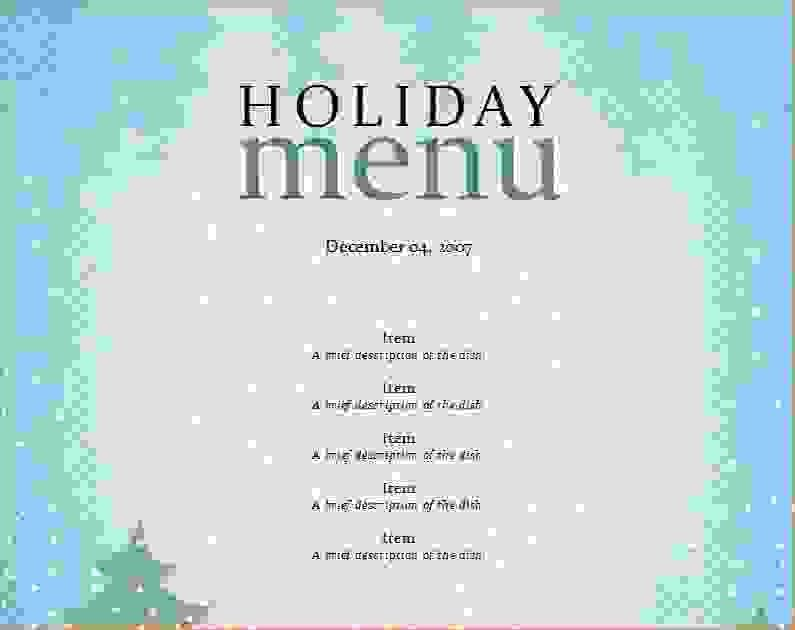 7+ christmas menu templates   Procedure Template Sample