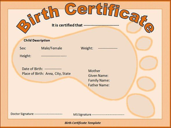 Sample Birth Certificate - 11+ Free Documents in Word, PDF