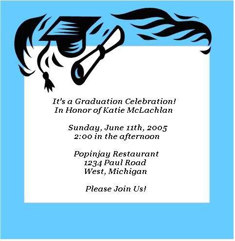 free printable graduation invitations - great free templates