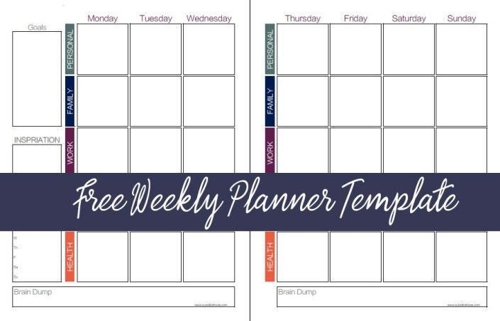 Free Weekly Planner Template | Quick Like Foxes