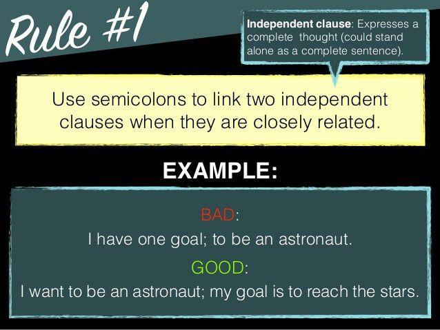 Grammar: Semicolons