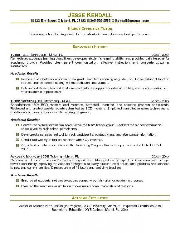 english tutor resume sample tutor resume sample pdf english - Tutor Resume Template
