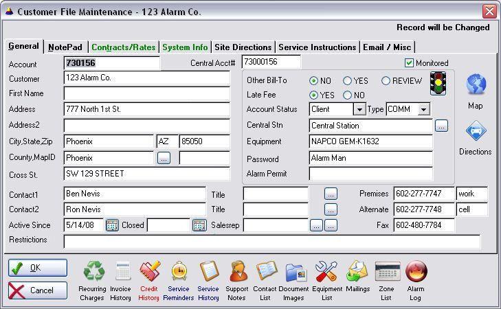 Alarm Security Dealer Recurring Invoice Billing Technician Service ...