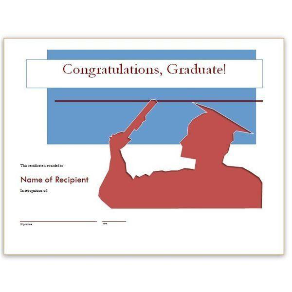 Congratulatory Graduation Certificates: Free Downloads for MS Word ...