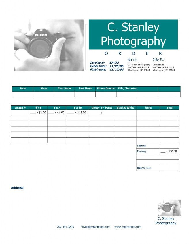 Download Photography Invoice Template Free | rabitah.net