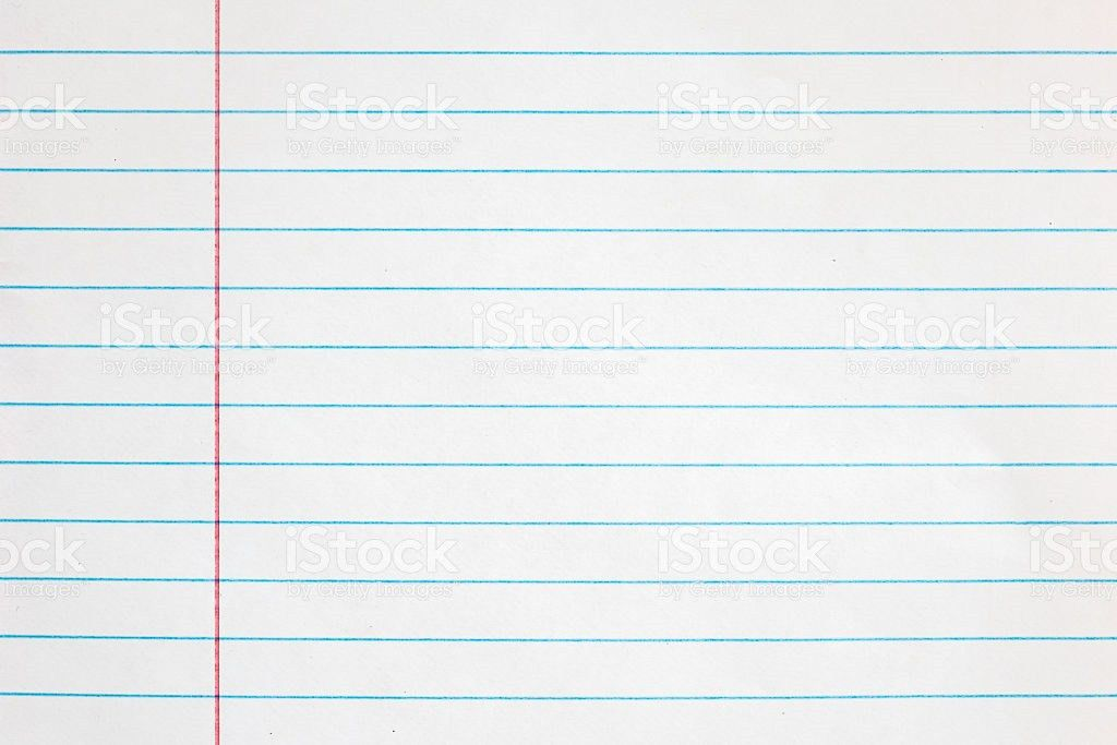 Sheet Of Looseleaf Paperdetailed Lined Paper Texture stock photo ...