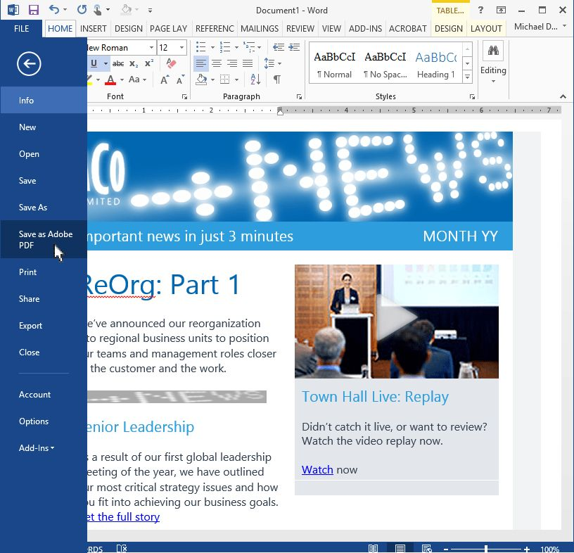 Create mobile responsive HTML email templates in Outlook