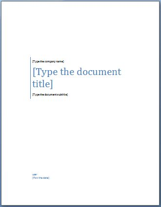 cover pages for word templates - Template