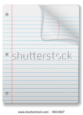 wide ruled lined paper template