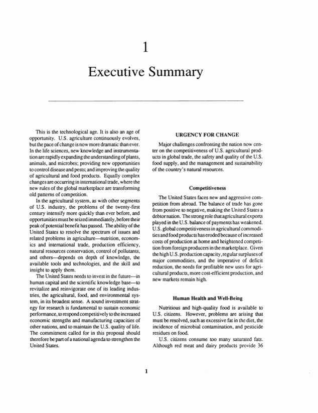 1 Executive Summary | Investing in Research: A Proposal to ...