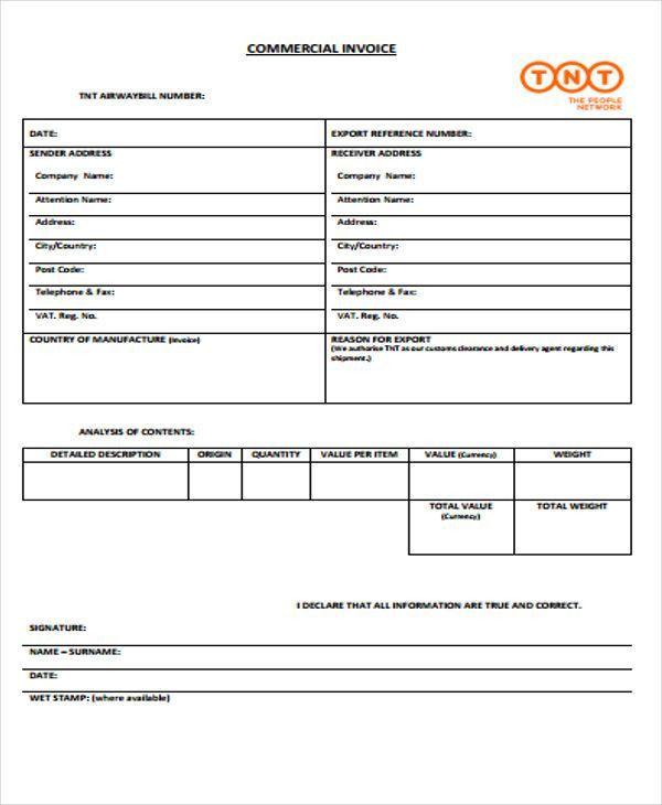 39+ Blank Invoice Templates   Free & Premium Templates