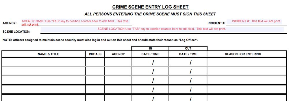 Crime Scene Investigations: Diagrams and Articles for Writers and ...