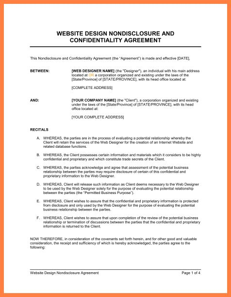 8+ confidentiality non disclosure agreement sample | Purchase ...