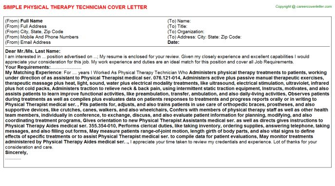 Delightful Cover Letter For Physical Therapy Sample Physical Therapist Cover