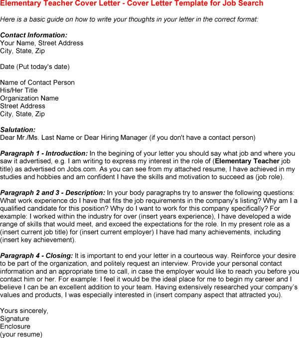 Cover Letter For Teaching Job | Experience Resumes