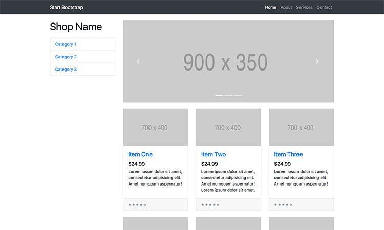 Bootstrap Ecommerce Themes & Templates - Start Bootstrap