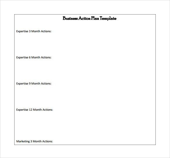 Action Plans Template Action Plan Template An Easy Way To Plan - 6 month business plan template