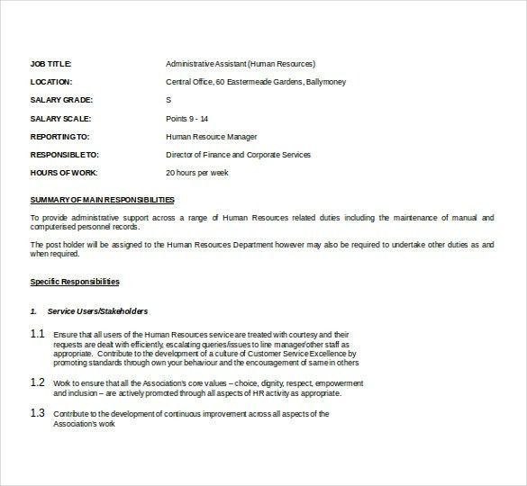 11+ Word Administrative Assistant Resume Templates Free Download ...