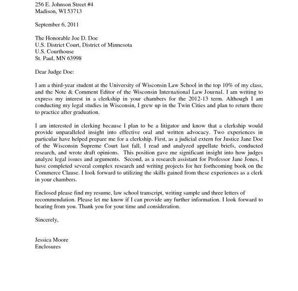 Majestic Design Clerkship Cover Letter 2 Good Sample Judicial 55 ...