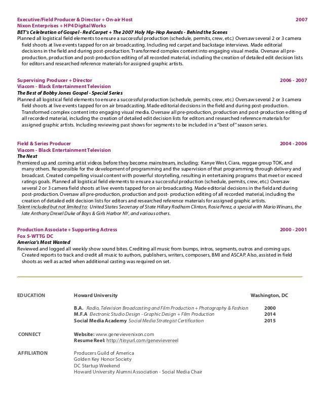 Genevieve Nixon - 2015 resume