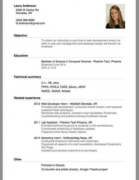 Ingenious Resume For Beginners 10 Sample Of A Beginners CV ...