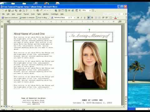 Funeral program background [template.billybullock.us]