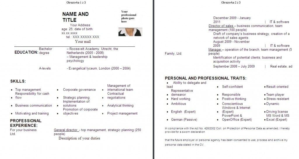 Resume Format For Fresh Graduates With No Experience Resume Sample ...