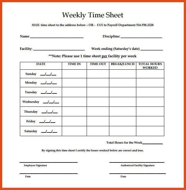 weekly timesheet template   moa format