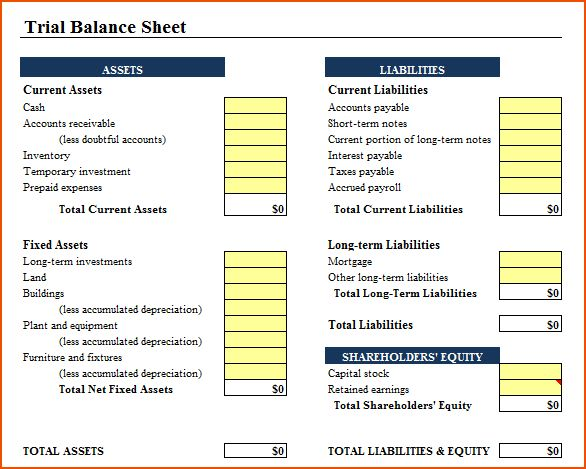8+ balance sheet template - bookletemplate.org