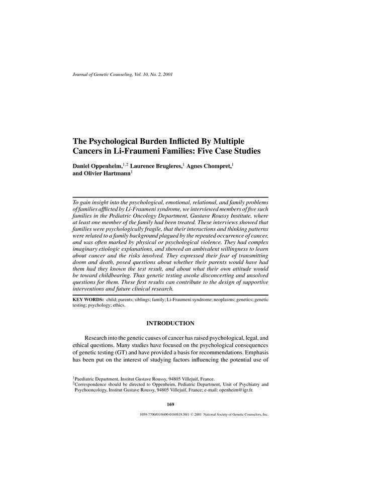 Sample case study in schizophrenia